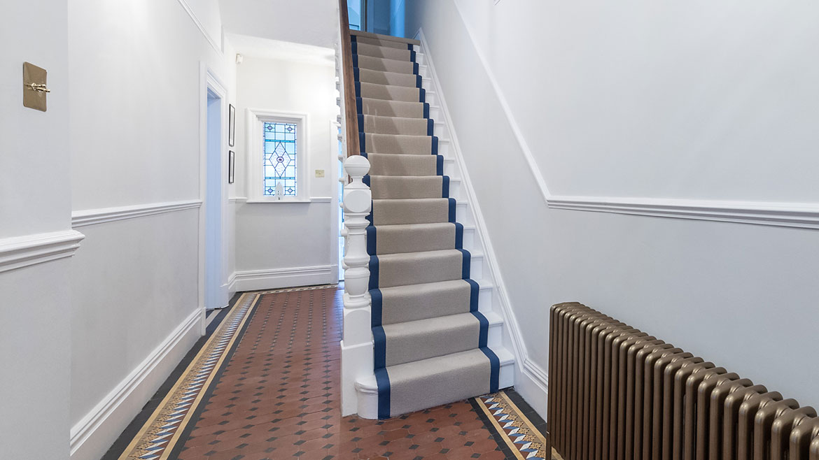 Stairwell In Traditional Home